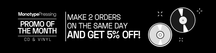 Make 2 orders on the same day and get 5% off!